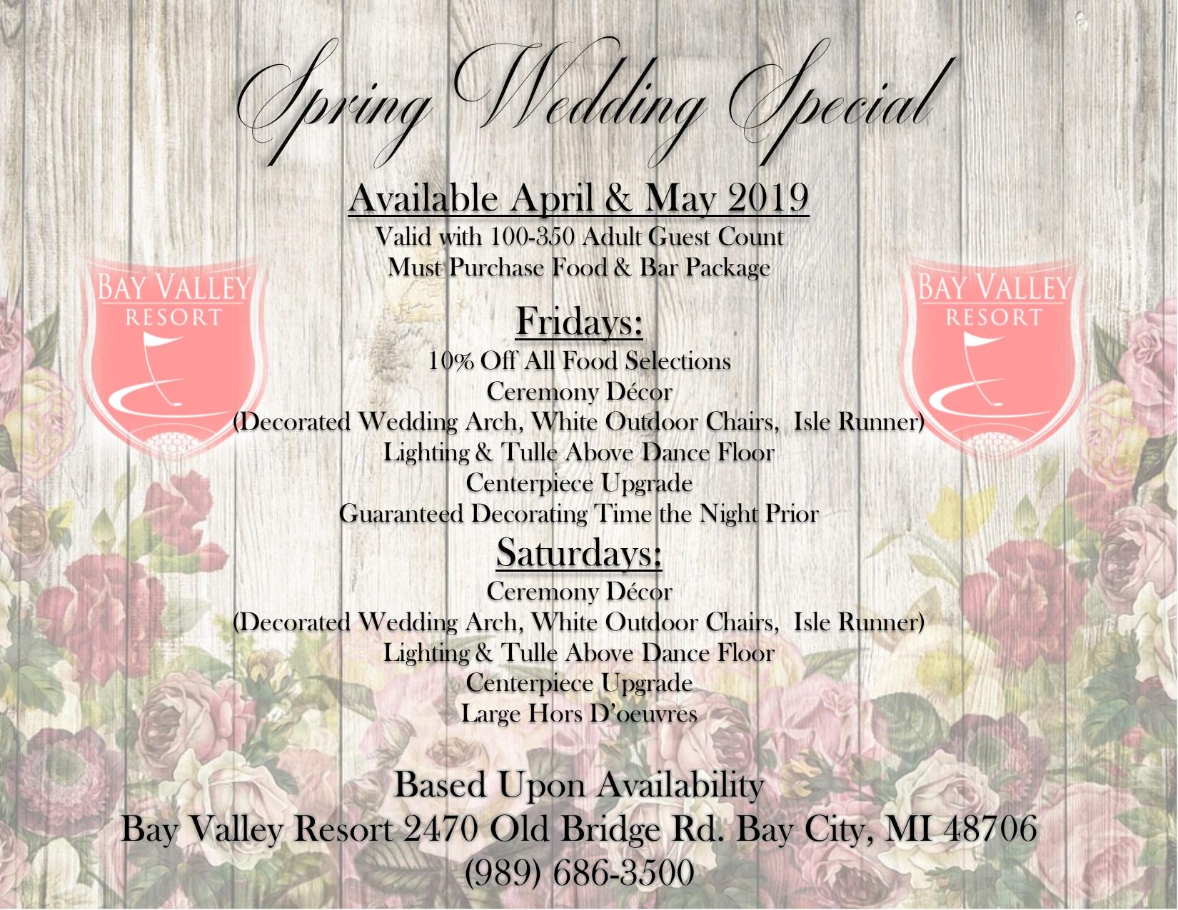 Spring Wedding Special 2019